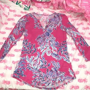 Pink Coral Lilly Pultizer Top